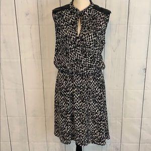 H & M Animal Print Faux Wrap  Sleeveless Dress